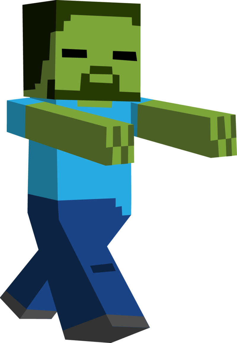 Minecraft zombie clipart.