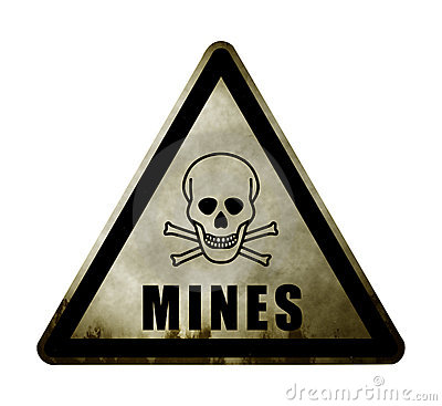 Minefield Stock Illustrations.