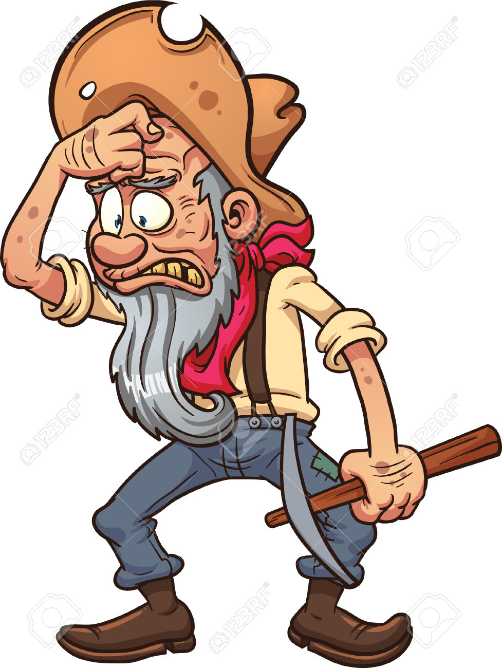 Gold miner clipart free.