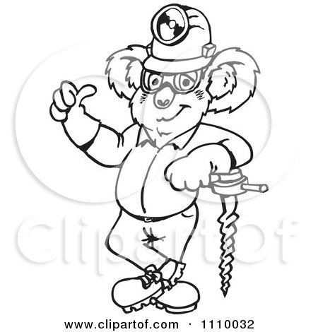 Clipart Black And White Gold Miner.