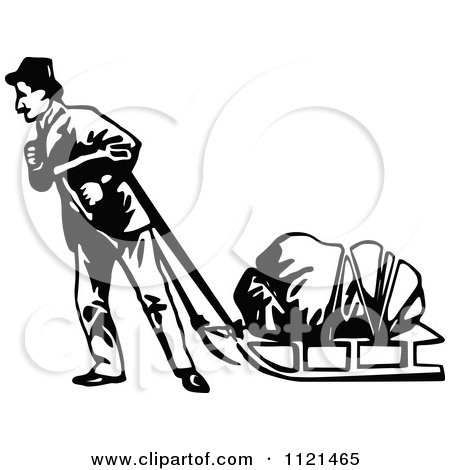 Clipart Black And White Man Panning For Gold.