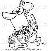 Royalty Free Black and White Stock Cartoon Designs.