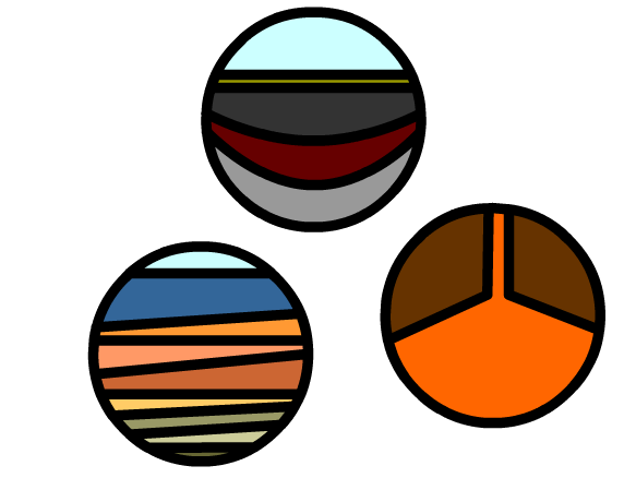 Rock and mineral clipart.