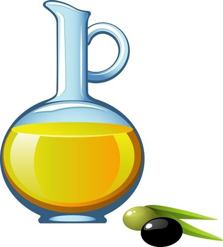 Bottle of Olive Oil Clip Art, Vector Bottle of Olive Oil.