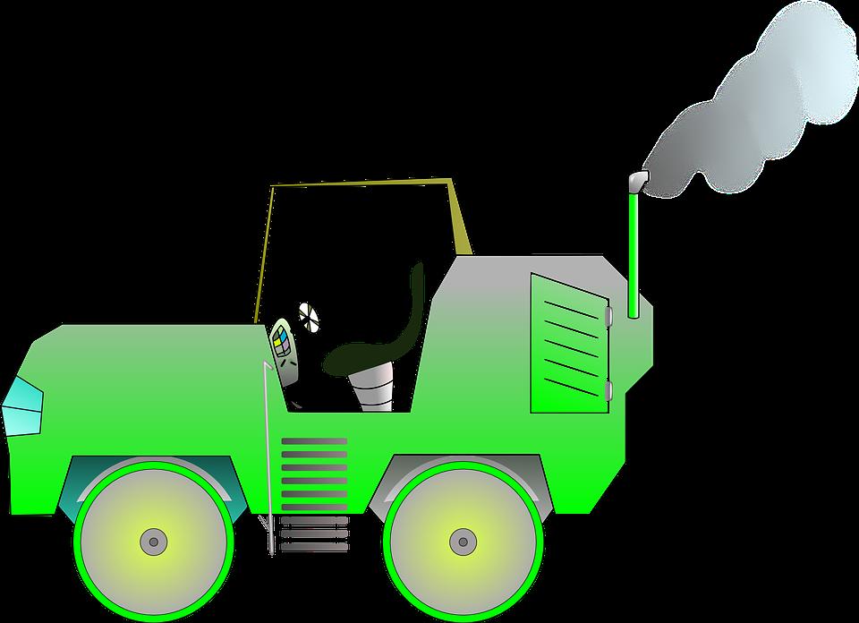Free vector graphic: Bulldozer, Compactor, Asphalt.