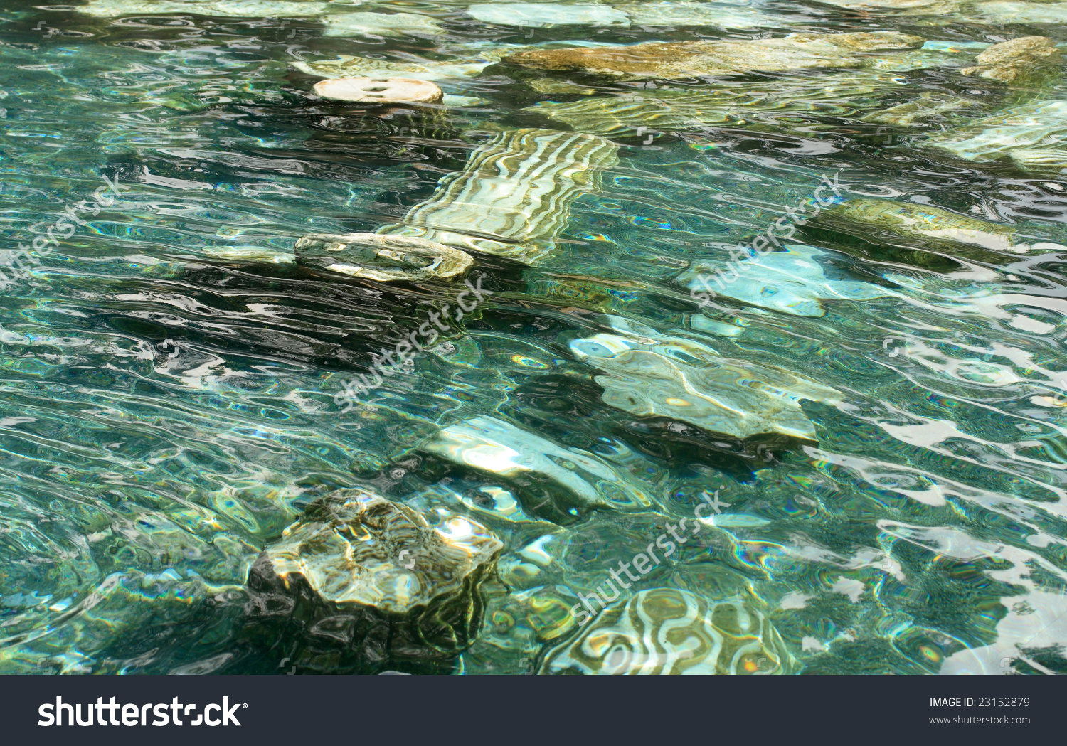 Cleopatra Pool With Mineral Water, Hierapolis, Turkey. Stock Photo.