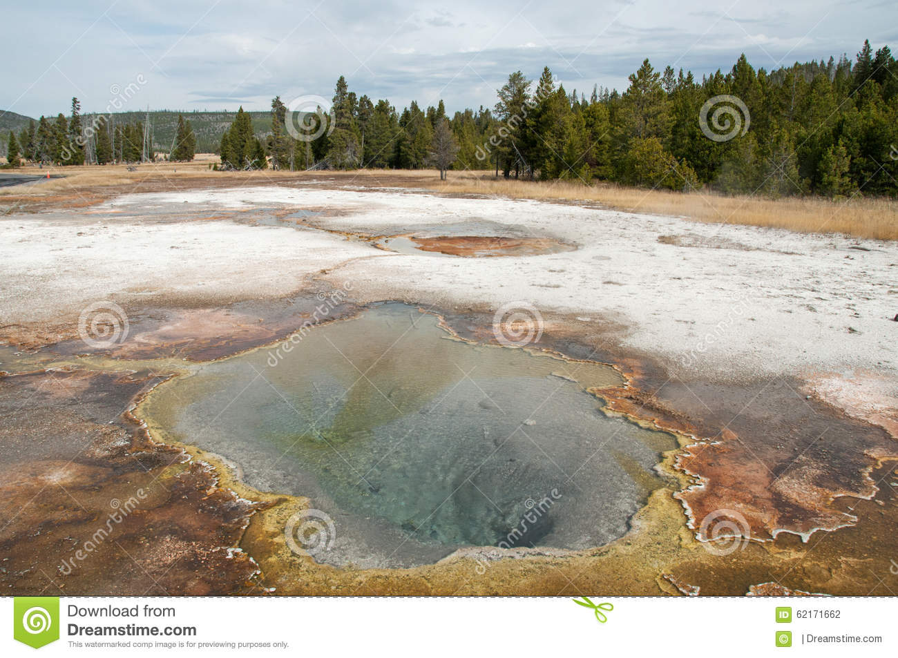Mineral Pool Stock Photo.