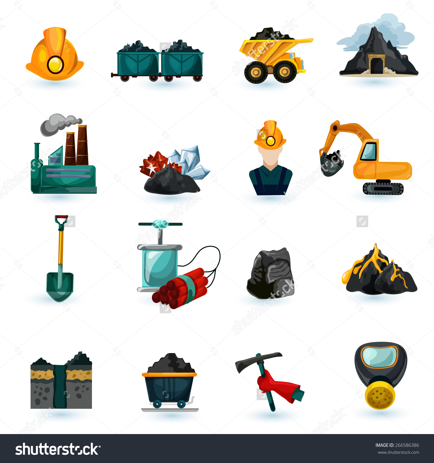 Mining and resource extraction clipart.