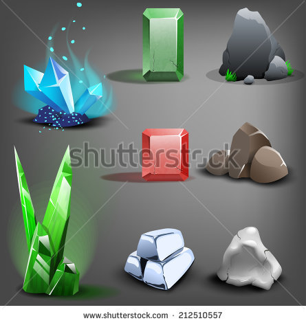 Resource Icons For Games. Vector..