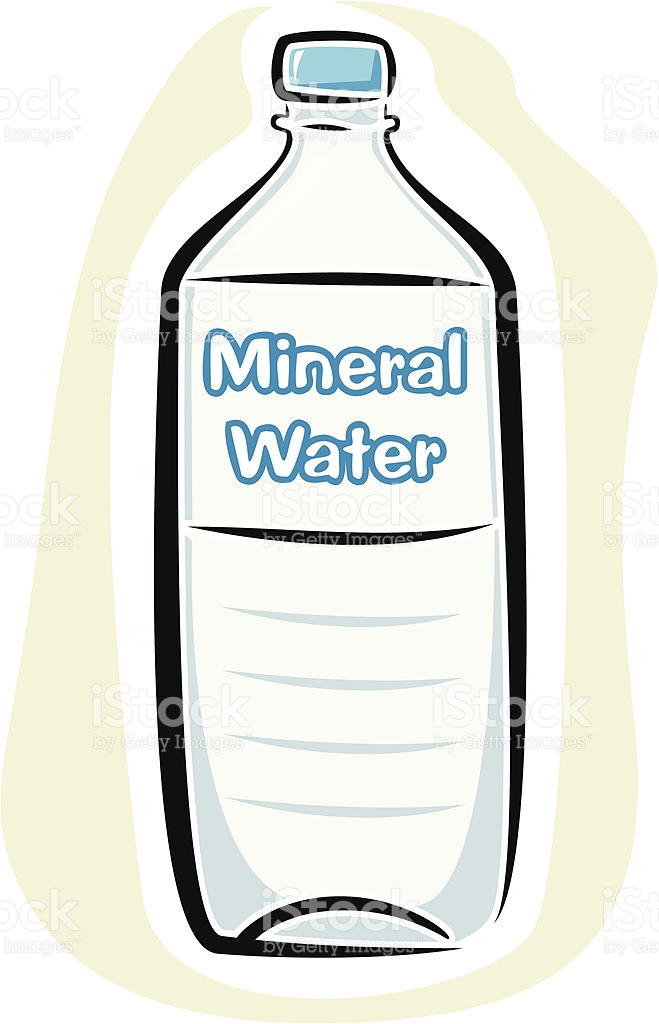 Mineral Water Bottle stock vector art 164887665.