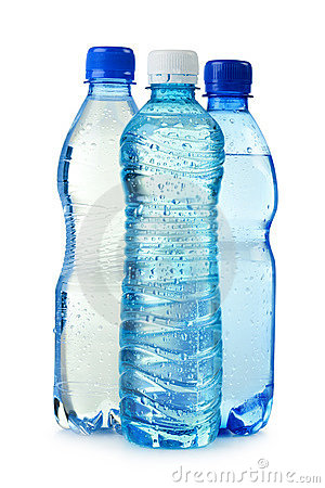 Plastic Bottle Of Mineral Water Isolated On White Stock.