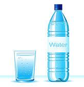Mineral Water Bottle Clip Art.