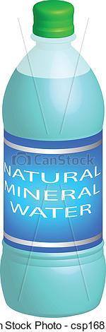 Vector Illustration of Water Bottle.