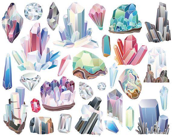 Minerals clipart silhouette.