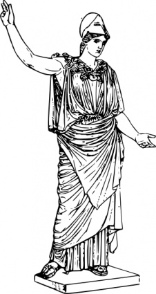 Athena clip art Free Vector.