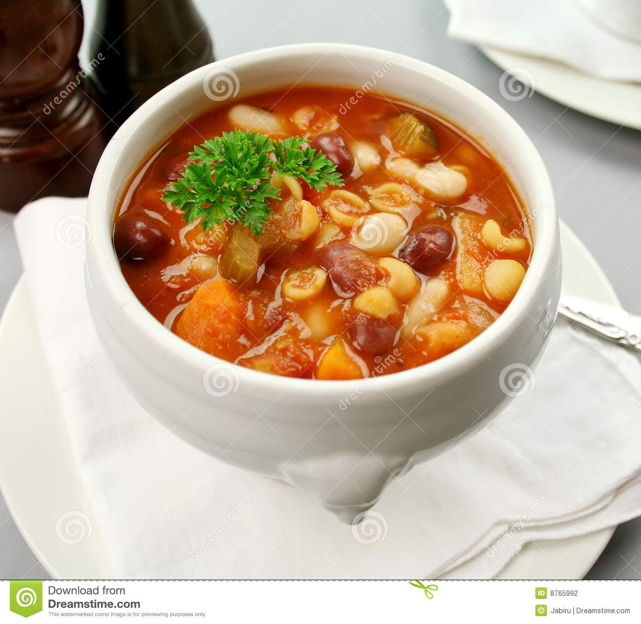 Minestrone Soup Stock Photography.