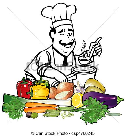Clipart Vector of Minestrone csp4766245.