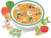 Stock Illustration of Minestrone Soup minestrone.