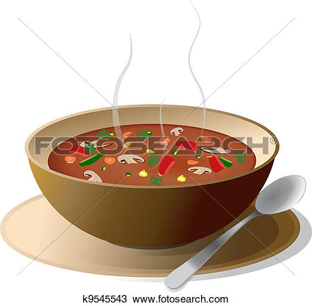 Stock Illustrations of Vegetable soup with ingredients k5520650.