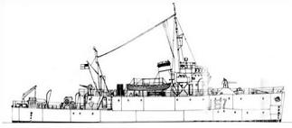 Free Mine Sweeper Ship Clipart.