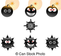 Minesweeper Vector Clipart Illustrations. 12 Minesweeper clip art.