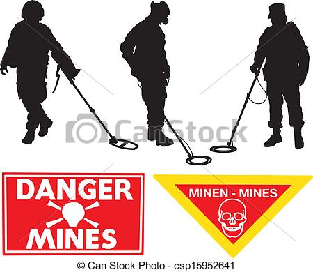 Mine sweeper Vector Clipart Illustrations. 4 Mine sweeper clip art.