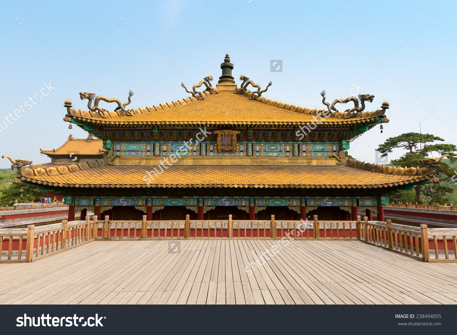 Chinese Ancient Palace Building Classic Ming Stock Photo 238494055.