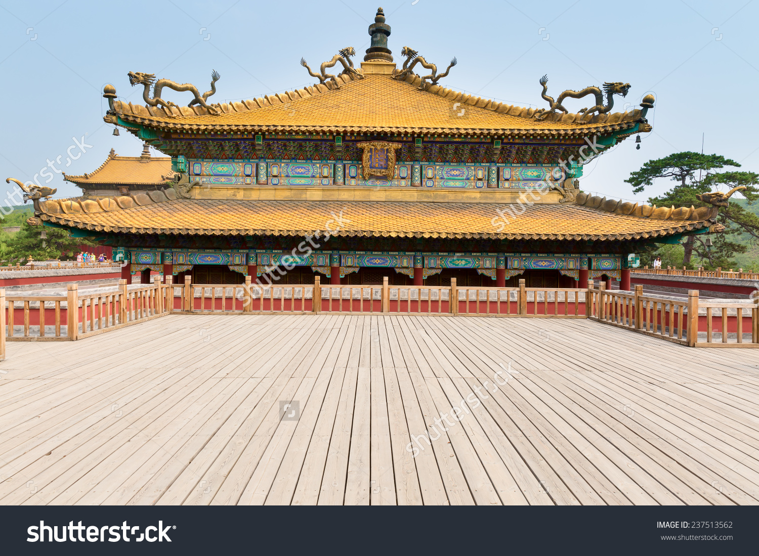 Chinese Ancient Palace Building Classic Ming Stock Photo 237513562.