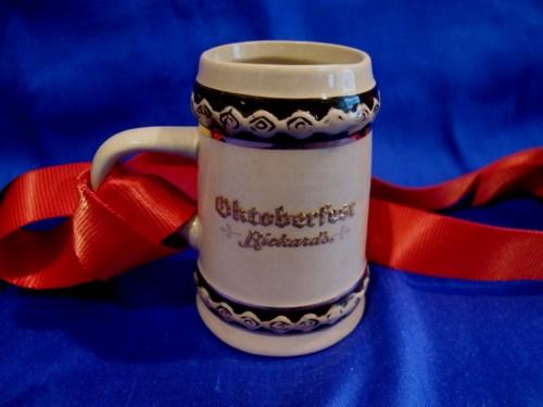 Oktoberfest RICKARDS BEER Stein Mug Miniature Collector Souvenir.