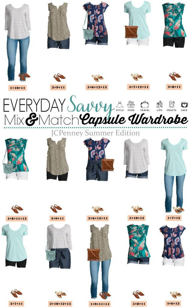 JCPenney Summer Outfits Mini Capsule.