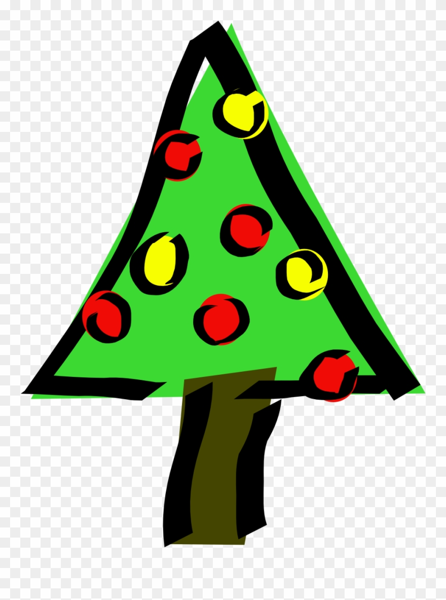 Christmas Tree Small Clipart 300pixel Size, Free Design.