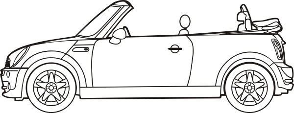 Mini Cooper Convertible clip art Free vector in Open office.