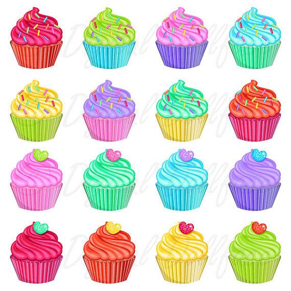 Cupcake Clipart, Dessert Bakery / Cupcake Party Clip Art.