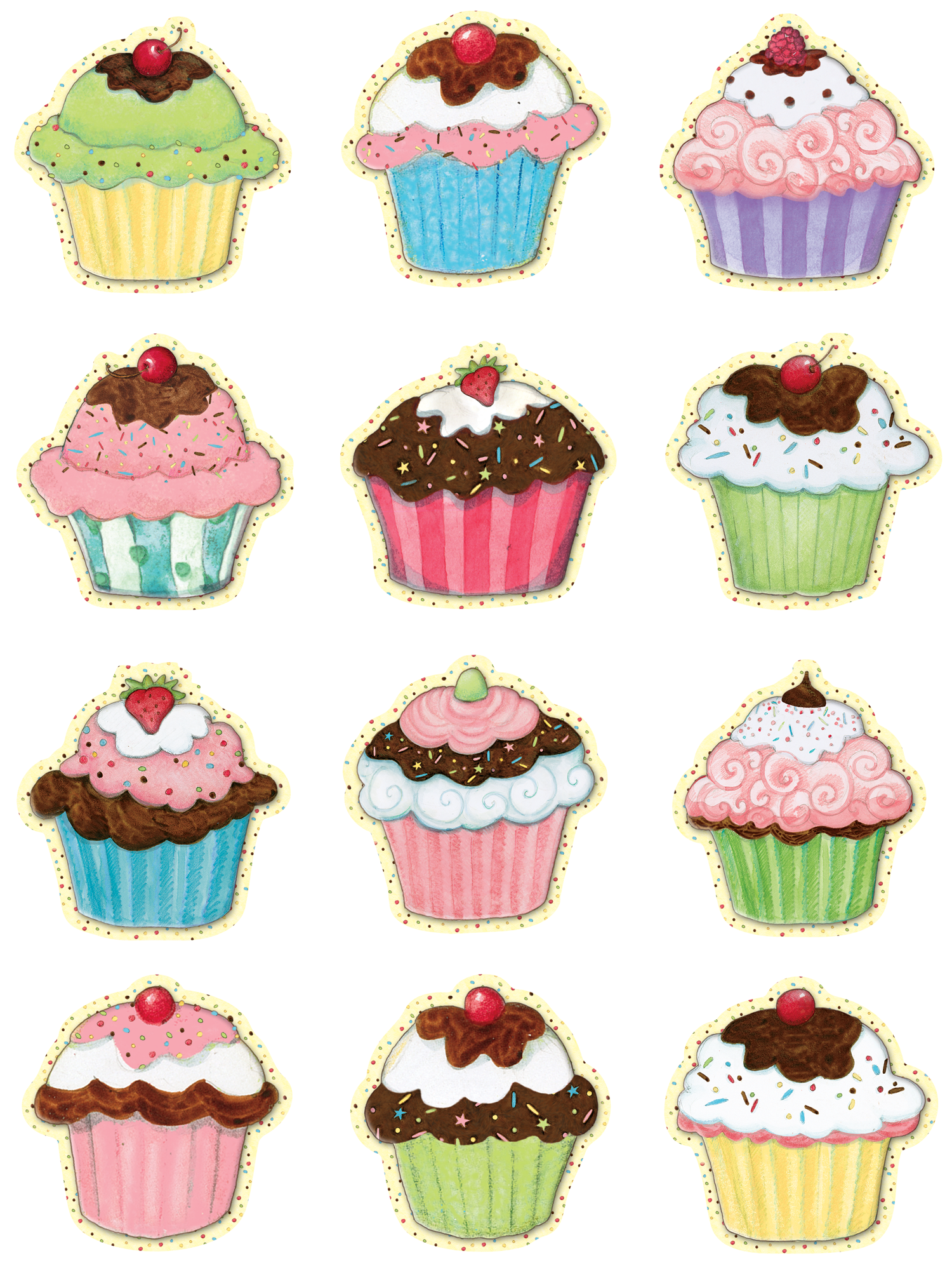 Cupcakes Mini Accents from Susan Winget.