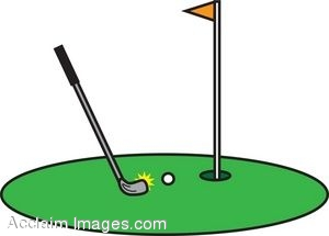 Mini golf clipart.