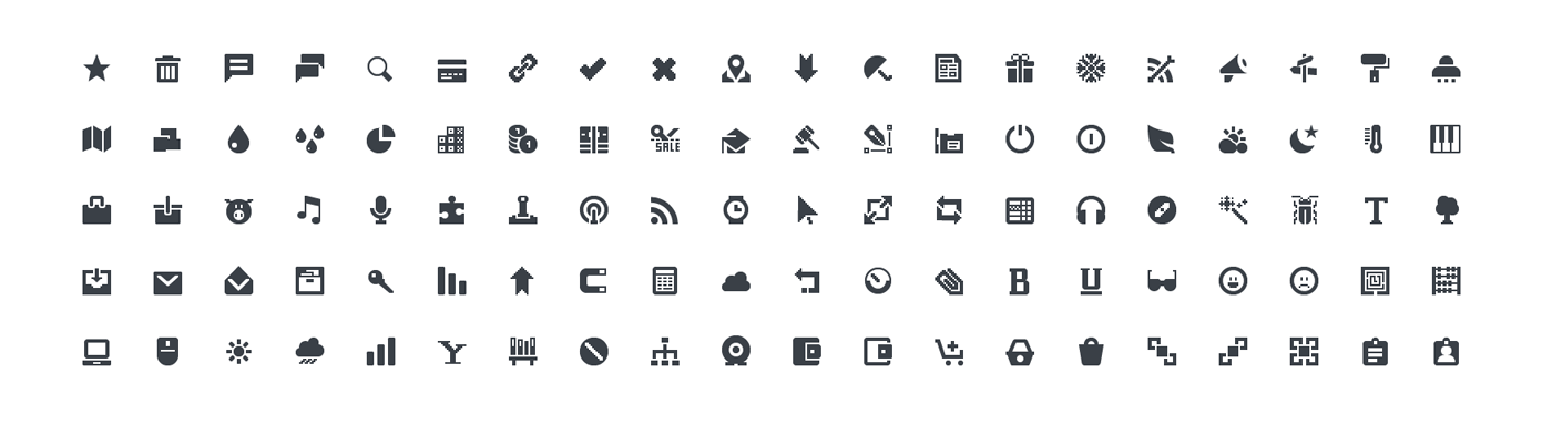 Squid Ink Professional Web Icons » Mini Icons.