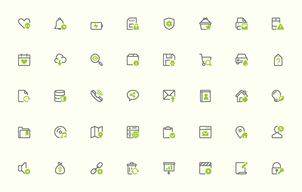 40 Free Mini Icons set.