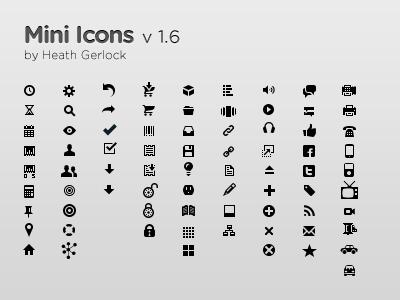 Top 50 Free Mini Icon Sets.