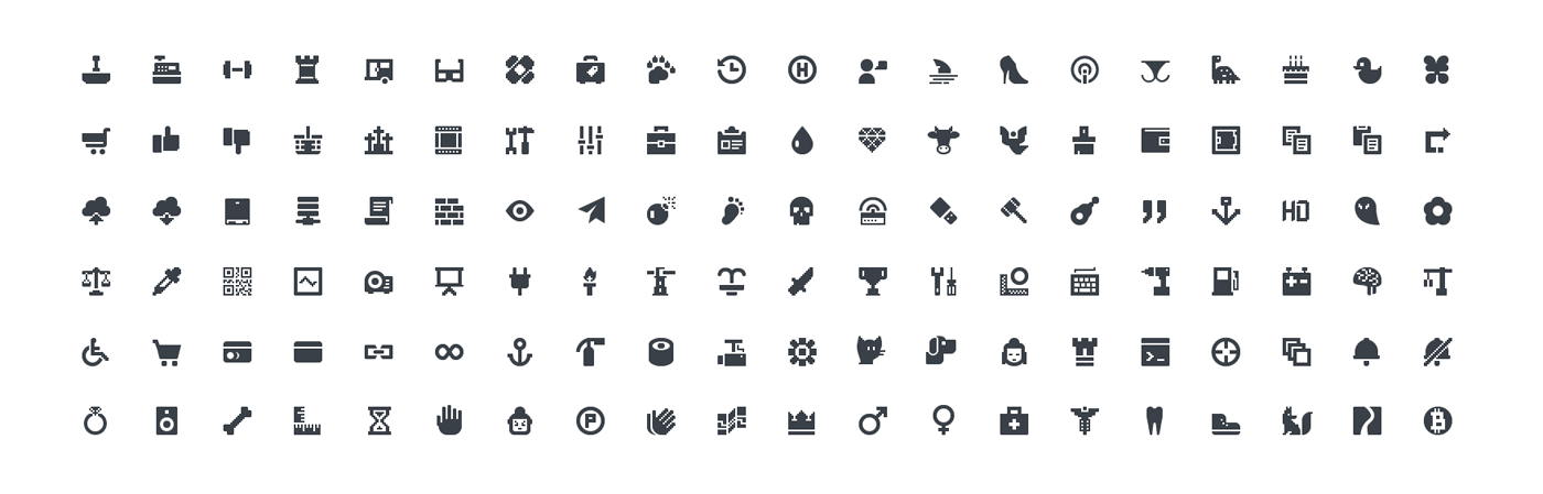 Squid Ink Professional Web Icons » Mini Icons.