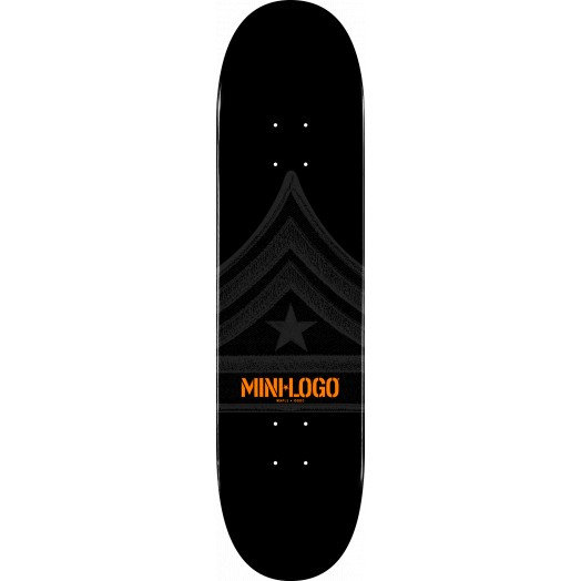Mini Logo Quartermaster Skateboard Deck 191 Black.