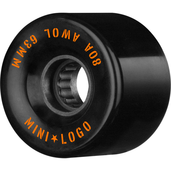 Mini Logo ATF A.W.O.L Black Skateboard Wheels.