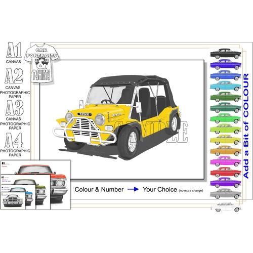 80's Series Mini Moke Californian Print.
