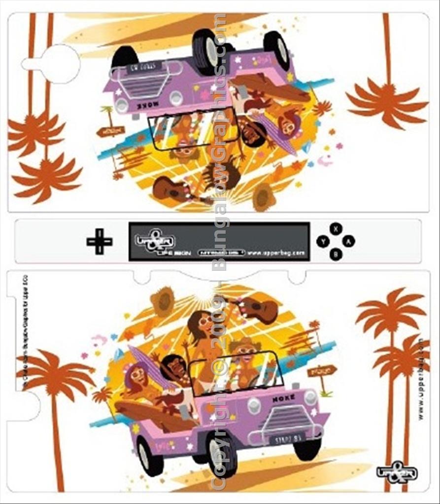 Stickers DSI Mini Moke by Charlie Adam : Bungalow Graphics, buy.