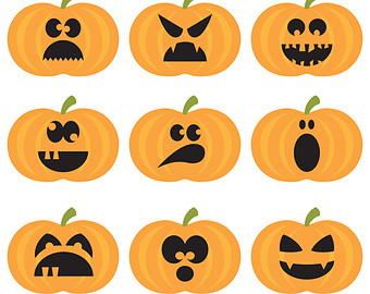 Pumpkins Clipart.