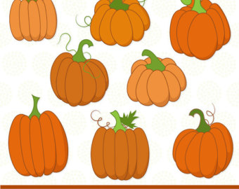 Vector pumpkin clipart.