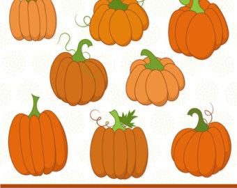 Vector pumpkin clipart.