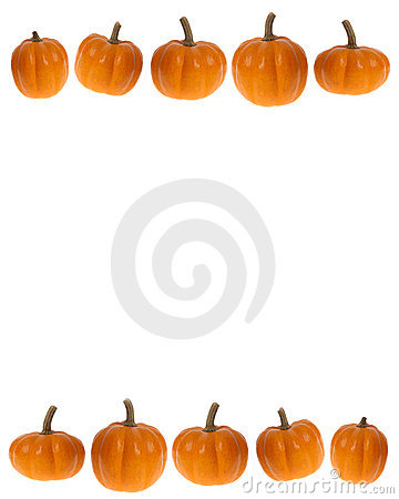 Pumpkin Row Clipart.