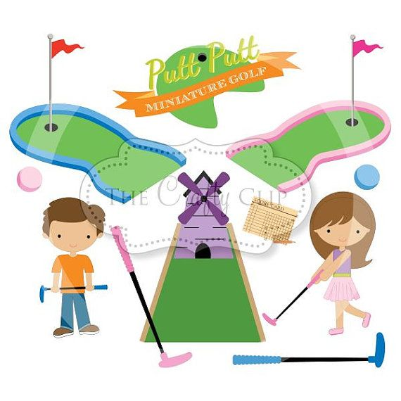 SALE Mini Golf Madness Clipart Set by TheCraftyClip on Etsy.