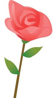 Miniature Rose Clip Art, Vector Miniature Rose.