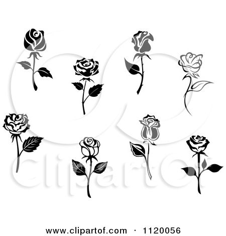 Miniature Roses Clip Art.